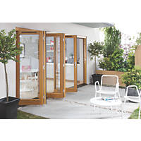 Jeld-Wen Canberra Slide & Fold Patio Door Set Golden Oak 3594 x 2094mm