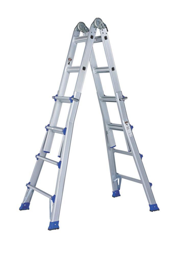 Aluminium Telescopic Ladder 2 x 7-Tread