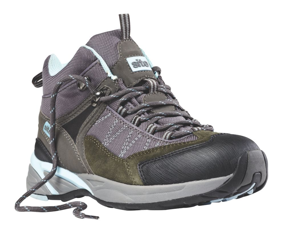 Site Ladies Safety Trainer Boots Grey Size 5