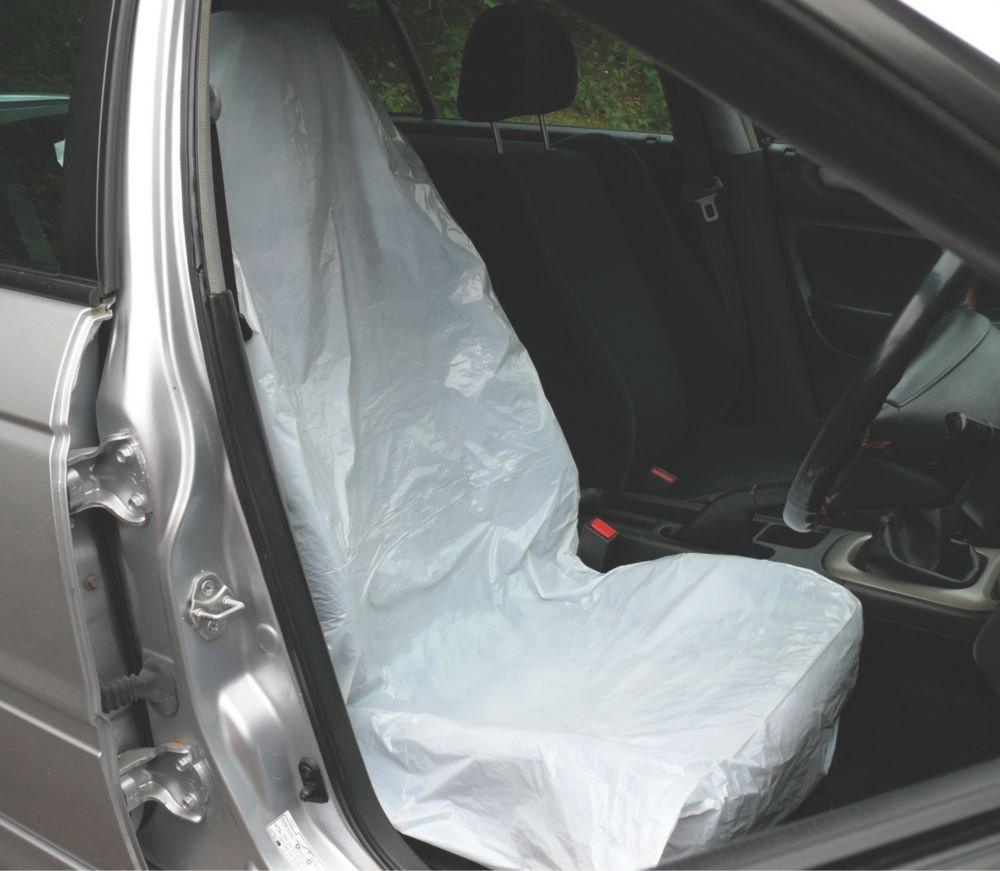 Metro Disposable Plastic Vehicle Protective Seat Covers Pack of 5