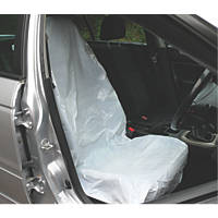 Metro Disposable Plastic Vehicle Protective Seat Covers White 5 Pack