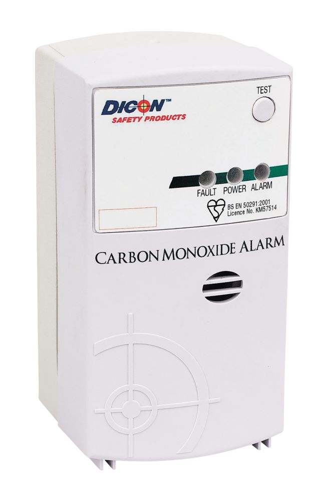 Dicon Carbon Monoxide Mains + Back Up Alarm