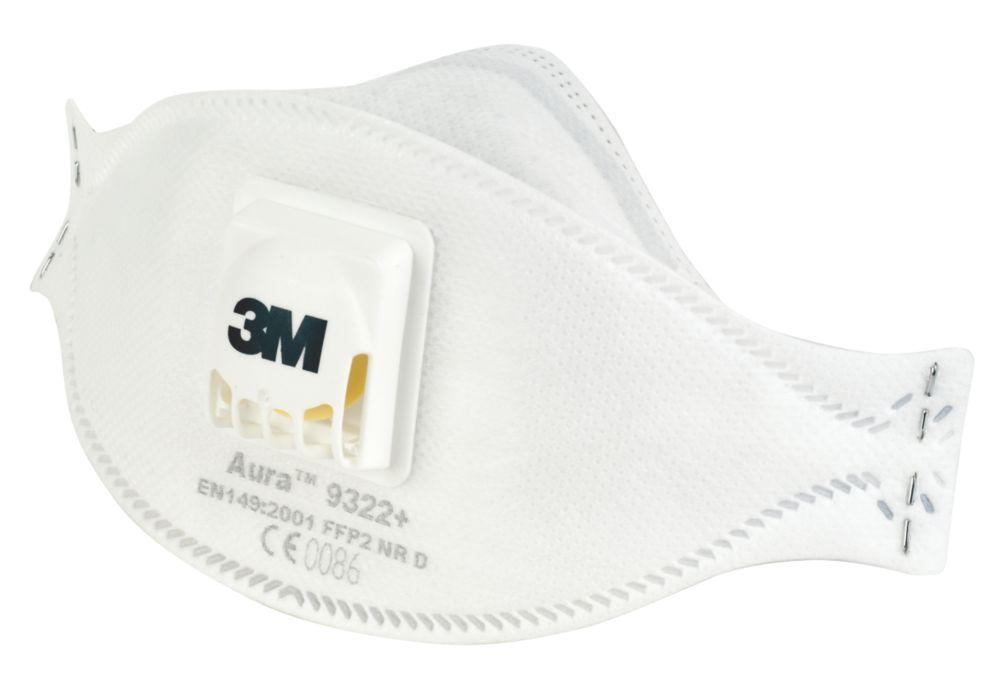 3M Aura 9322 Disposable Valved Dust/Mist Respirator FFP2