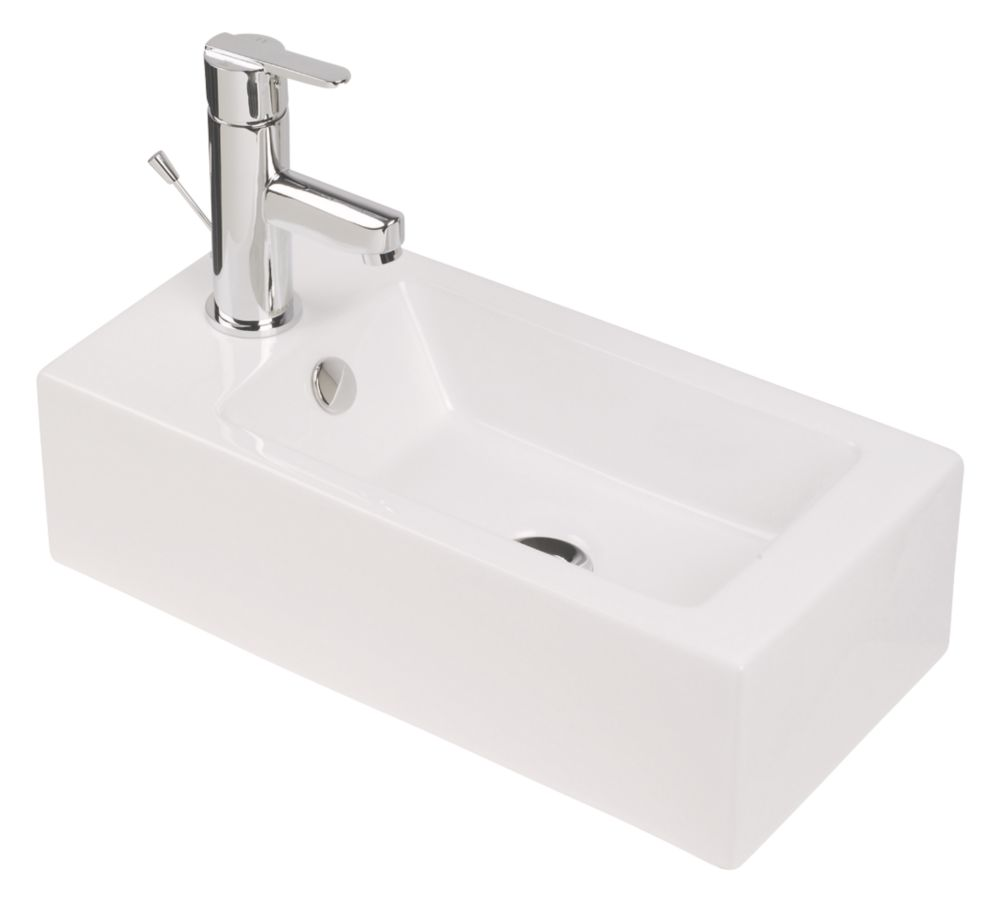 Mono Wall-Mounted Bathroom Basin 1 Tap Hole 500mm