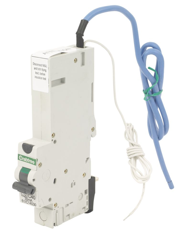 Crabtree 40A 30mA SP Type C Curve RCBO