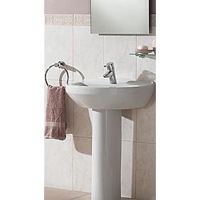 Vitra S5 1TH 55mm Full Pedestal Basin
