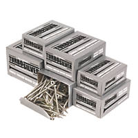 Turbo Silver Woodscrews Trade Pack Double Self Countersunk 1400 Pcs