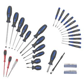 screwdriver set chrome vanadium 49pc screwdrivers. Black Bedroom Furniture Sets. Home Design Ideas
