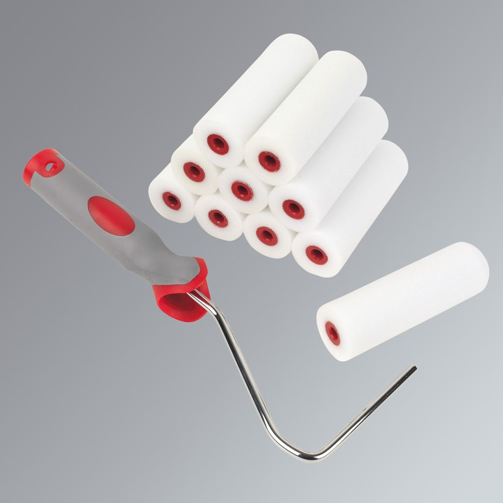 "High Density 4"" Foam Mini Rollers with Frame 10 Piece Set"