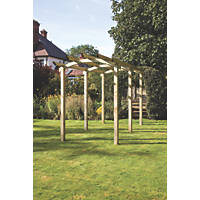 Grange  Bowed Pergola Walkway Pressure-Treated Green  1.8 x 4.8 x 2.93m