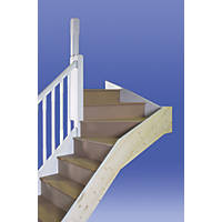 Stairways Chamfered Top Winder Staircase RH Unfinished