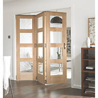 Jeld-Wen  Divider Glazed 3-Door Interior Room Divider Oak Veneer 2052 x 1934mm
