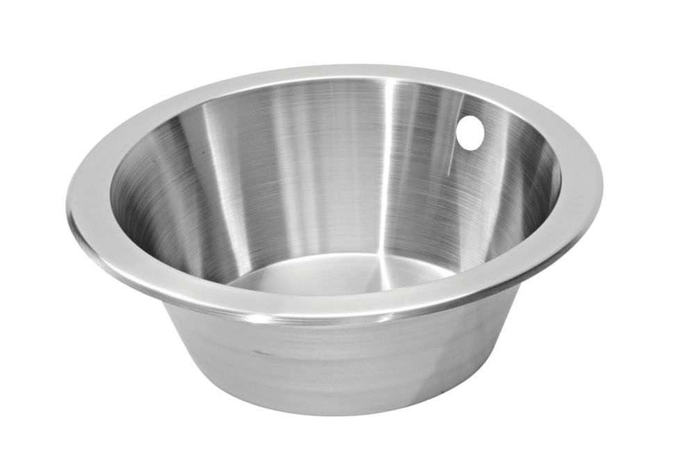 Pyramis Royal Bowl Stainless Steel Reversible Kitchen Sink 355mm
