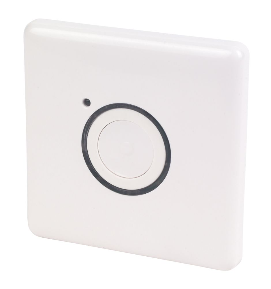 2 Wire Master Push Button White