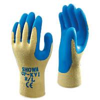 Showa GP-KV1 Cut 4 Kevlar Gloves Yellow/Blue X Large