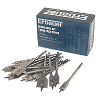 Erbauer Wood Drill Bit Trade Pack 20Pcs