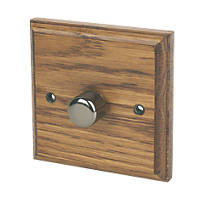 Varilight V-Pro 1-Gang 1 / 2-Way Dimmer Switch Medium Oak