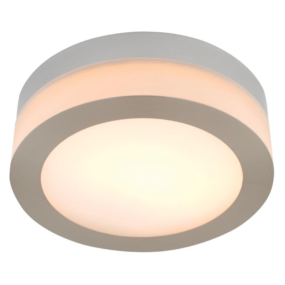 Masterlite Deva Bathroom Ceiling Light Large Brushed Chrome Effect 40W