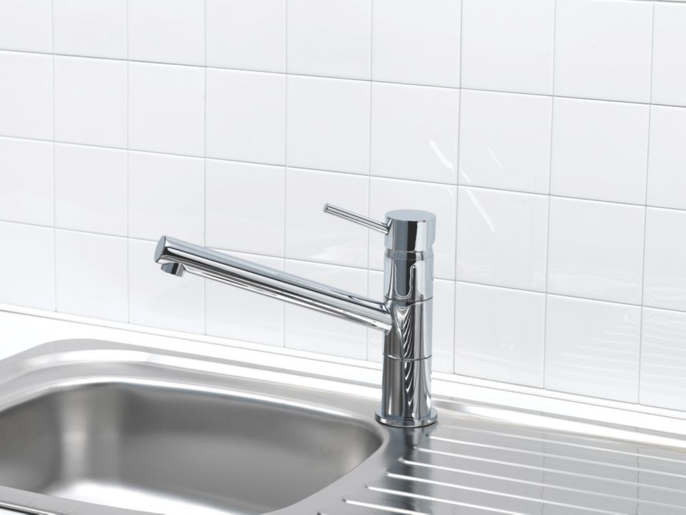 Swirl Fresco Single Lever Mono Mixer Kitchen Tap Chrome