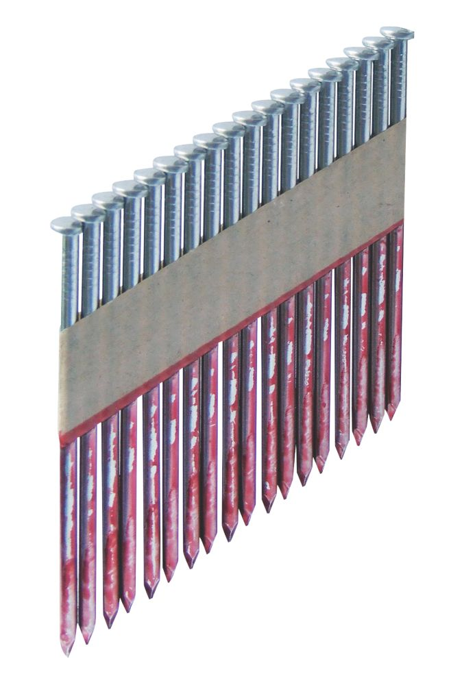 Bostitch Paper Tape Framing Nails 2.8 x 63mm Pack of 2200 & 2 x Fuel Cells