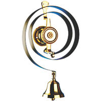 Bryon Mechanical Butler's Bell Black/Brass