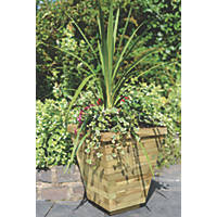 Grange Square Tapered Wooden Planter  400 x 400 x 460mm 4 Pack