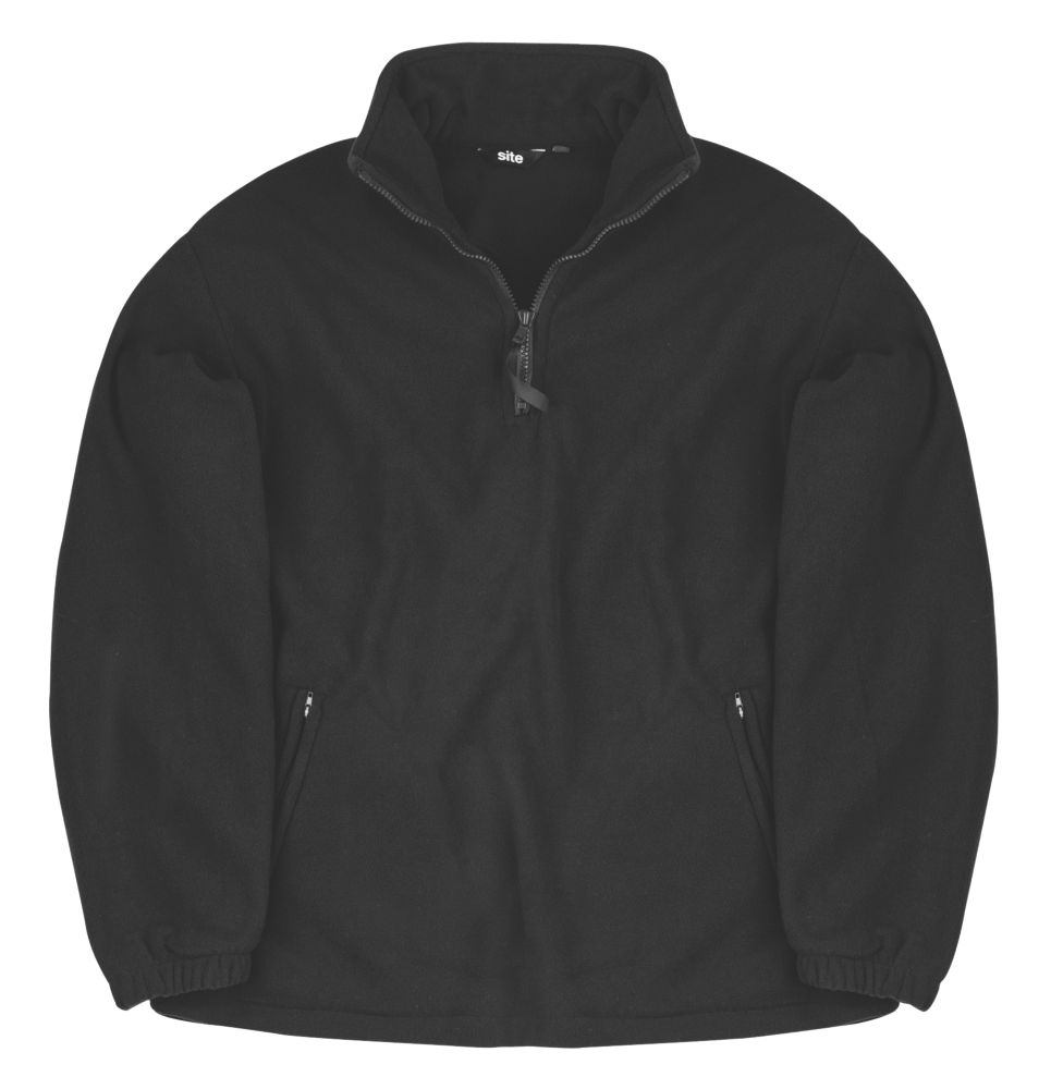 Site Pine Half-Zip Fleece Black Large 42-44""