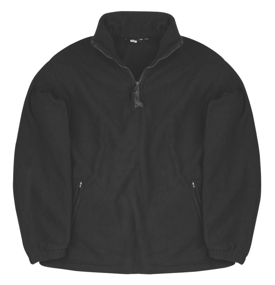 """Site Pine Half-Zip Fleece Black Large 42-44"""""""