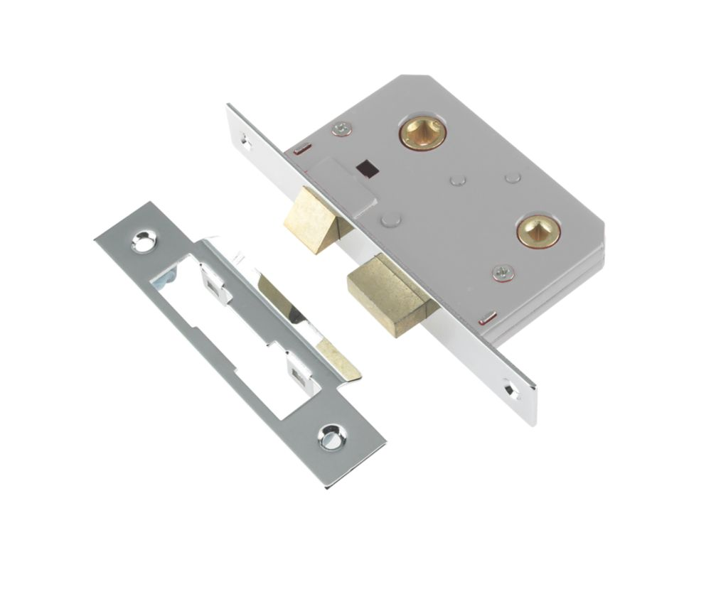 Century Bathroom Mortice Lock Chrome 64mm