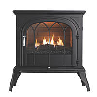 Focal Point Leirvik Black Gas Flueless Stove