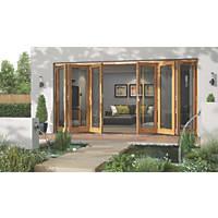 Jeld-Wen Canberra Slide & Fold Patio Door Set Golden Oak 4194 x 2094mm