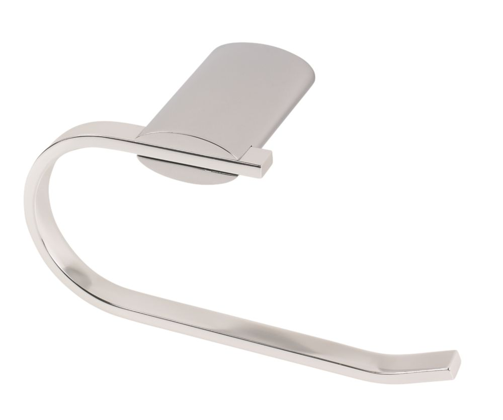 Swirl Toilet Roll Holder Chrome-Plated