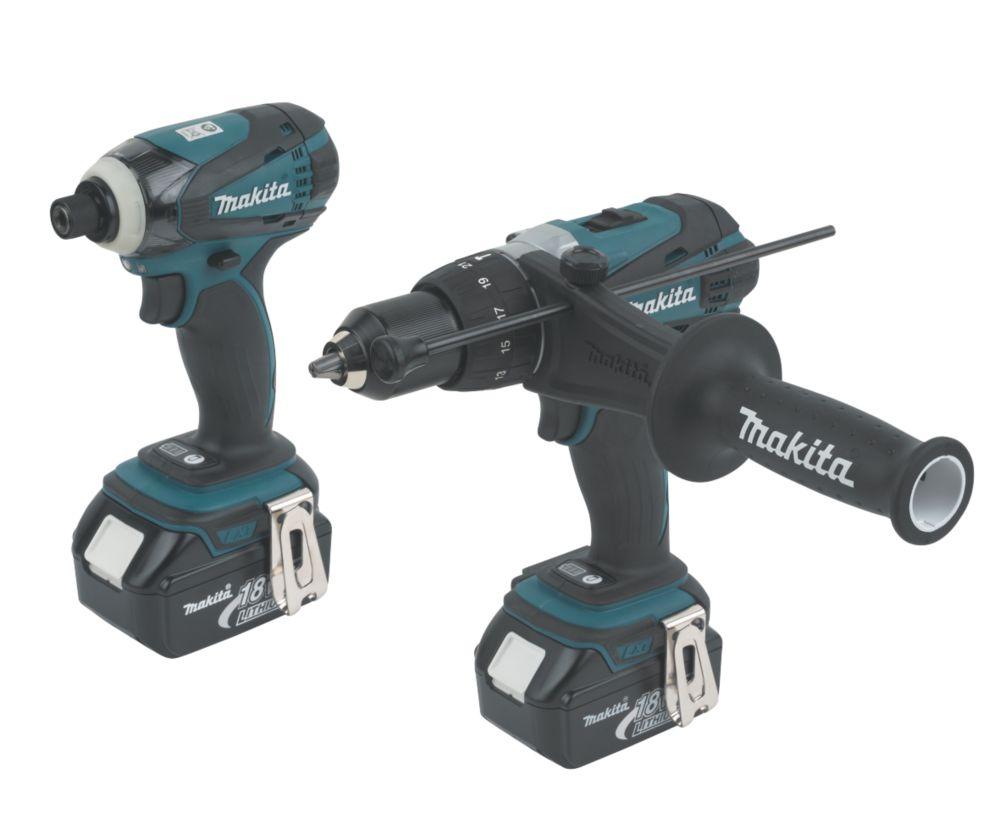 Makita DK18000 18V 3Ah Li-Ion Twin Pack Combi Drill & Impact Driver LXT