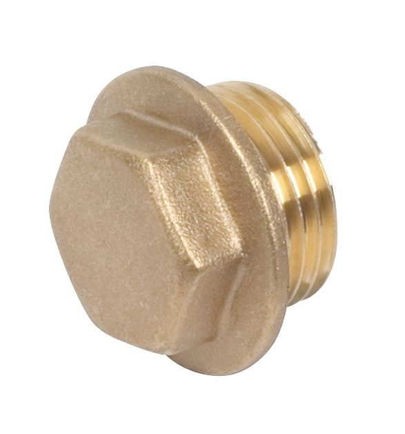 """Comap Brass Flanged Plug ½"""" Pack of 2"""