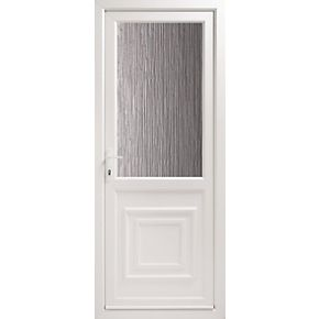 Euramax 2xg double glazed front door translucent glass rh for Double back doors
