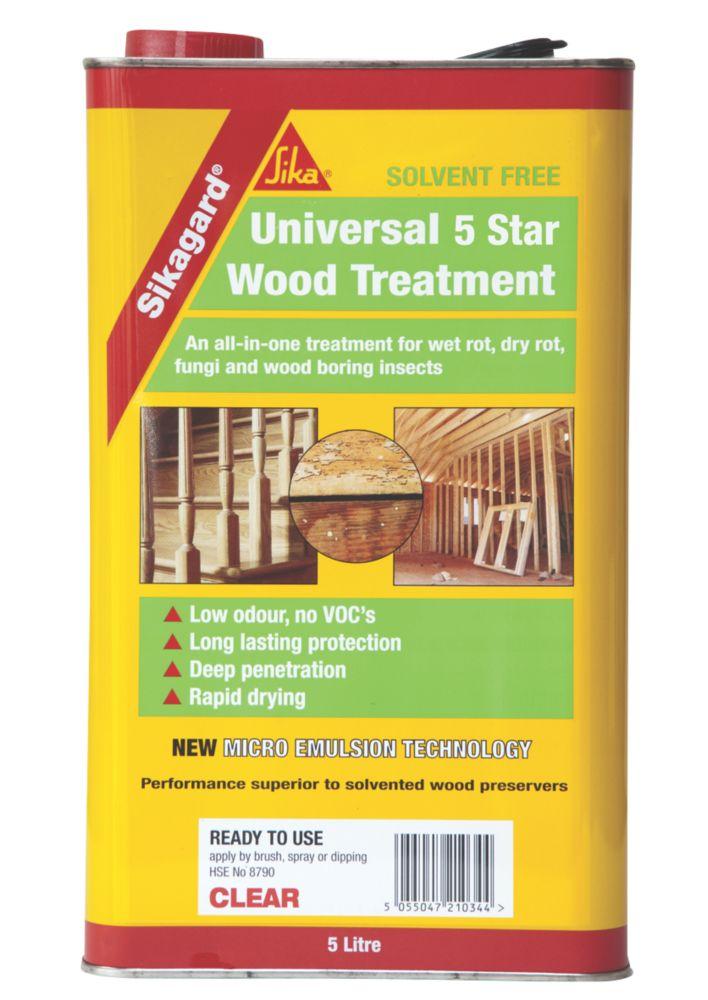 Sikagard Universal 5 Star Wood Treatment Clear 5Ltr