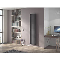 Ximax Fortuna Vertical Single-Panel Designer Radiator Anthracite 1800 x 294mm