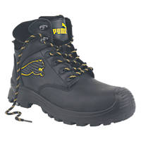 Puma Borneo Mid-Safety Boots Black Size 9