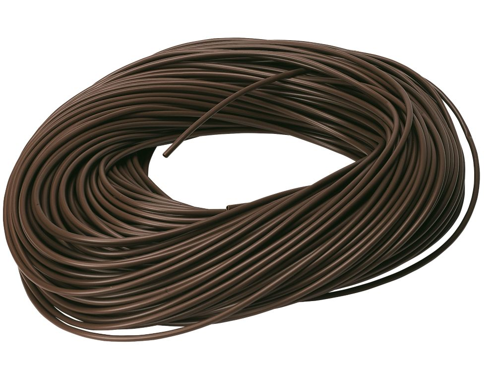 PVC Sleeving 3mm x 100m Brown