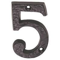 Carlisle Brass Ludlow Door Numeral 5 Antique Black 78mm