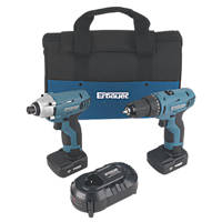 Erbauer ERP613KIT 10.8V 4.0Ah Li-Ion Cordless Twin Pack Drill Driver & Impact Driver