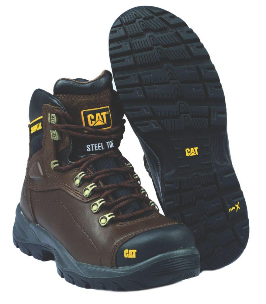 Caterpillar Diagnostic Brown Safety Boots Size 12
