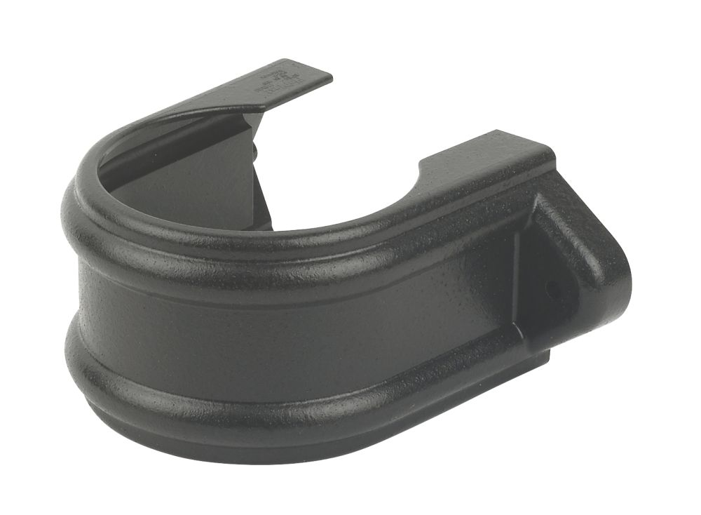 FloPlast SP84CI Cast Iron Effect Pipe Bracket 110mm Black Pack of 5