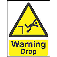 """Warning Drop"" Sign 200 x 150mm"
