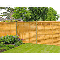 Forest Closeboard Panel Fence Panels 1.82 x 1.2m 4 Pack