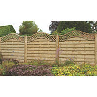 Forest Prague Fence Panels 1.8 x 1.8m 3 Pack
