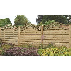 forest prague fence panels 1 8 x 3 pack lattice. Black Bedroom Furniture Sets. Home Design Ideas