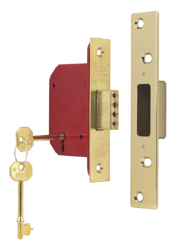 "ERA 5-Lever BS 3621: 2007 Mortice Deadlock Brass 2½"" (64mm)"
