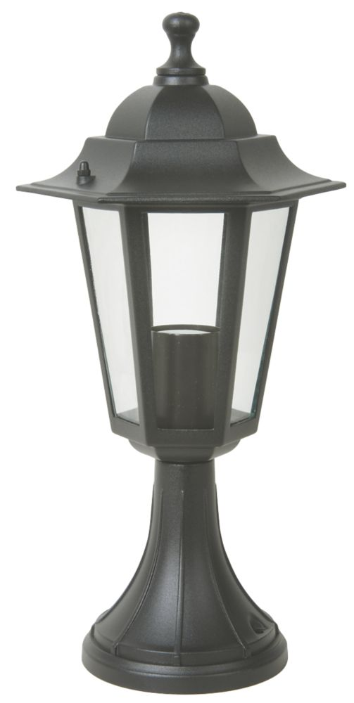 6-Sided Coach 60W Black Post Light