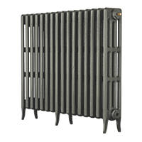 Arroll Neo-Classic 4-Column Cast Iron Radiator Cast Grey 760 x 874mm
